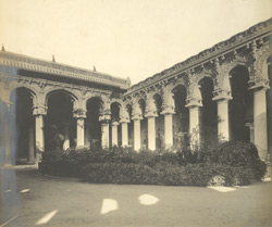 North-east view, interior view, Tirumal Naick's Palace, Madura 349